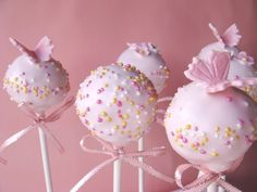 Pink Butterfly Cake Pops