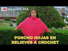 Poncho Sweater, Hats, Crochet Sweaters, Youtube, Fashion, Crochet Clothes, Hand Knitting, Poncho With Sleeves, Crochet Batwing Tops