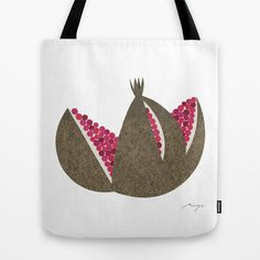 Pomegranate Tote Bag by Ryo Takemasa - $22.00