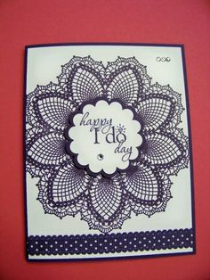 Hello, Doily by BrendaRiehle - Cards and Paper Crafts at Splitcoaststampers