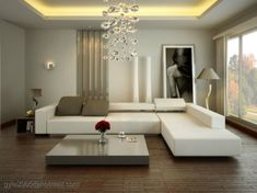Clean lines, modern living room