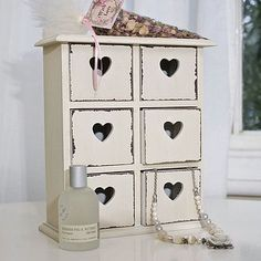 Little distressed heart drawers £39