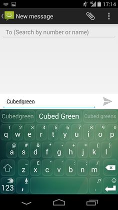 Cubed Green theme on SwiftKey Keyboard for Android. Check it out in the SwiftKey Store!