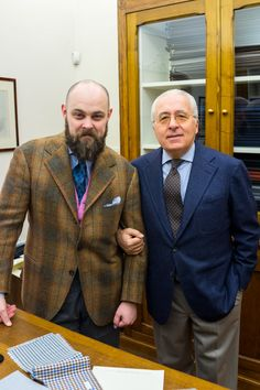 Sig. Lolli of Drapers with Ethan Newton of The Armoury