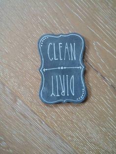 Dishwasher Magnet Clean & Dirty Dishwasher by tigerlilyterrace