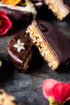 Chocolate Covered Peanut Butter Rice Crispy Treats - Think rice krispie meets Reece's with hints of caramel, minus the bad stuff! @halfbakedharvest.com