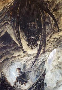 The Lord of the Rings - John Howe Art - Sam V Shelob