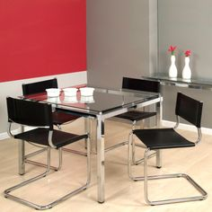 mesa de jantar quadrada 4 lugares em inox linda