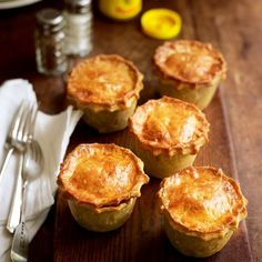 These individual beef pies may take a while to prepare, but the succulent meat and perfect pastry are well worth the effort. Savory Pastry, Savoury Pies, Choux Pastry, Beef Pies, British Baking, Great British Bake Off, Mary Berry, Cookies Et Biscuits, Cooking Recipes