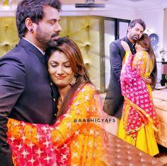 Cutest Couple Ever, Best Couple, Frocks And Gowns, Sriti Jha, Kumkum Bhagya, Beautiful Saree, Couple Posing, Cute Love, Indian Wear