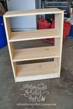 How to Build a Bookshelf |Adventures of a DIY Mom