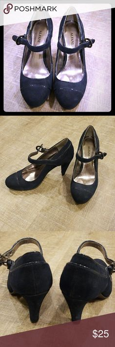 Alfani Navy Heels Pretty navy blue suede heels from Alfani. Very lightly worn.  🐾Pet-friendly, smoke-free home. 📦Fast shipper. 💫Top-rated seller. 🖤Considering all reasonable offers. Alfani Shoes Heels