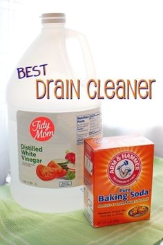 Drain cleaner- I used this in my bathroom this morning and it worked AWESOME!!