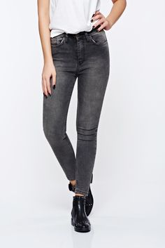27636b22a2 Top Secret grey jeans casual skinny jeans elastic cotton with medium waist,  elastic cotton, front and back pockets, tented cut, button and zipper  fastening