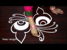how to draw creative rangoli art designs without color - beautiful kolam designs - muggulu designs Kolam Rangoli, Flower Rangoli, Small Rangoli, Muggulu Design, Rangoli Designs, Simple Designs, Dots, Holiday Decor, Art Designs