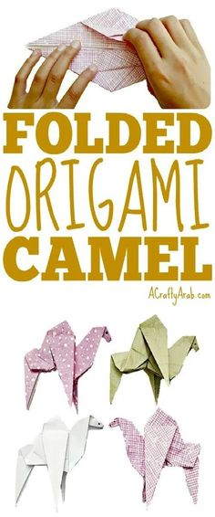 origami animals We made several folded origami camel figures as part of our Ramadan craft, while spending some time talking about the significance of animals in Islam. Eid Crafts, Ramadan Crafts, Camel Craft, Projects For Kids, Crafts For Kids, Art Projects, Bone Folder, Operation Christmas, Origami Animals