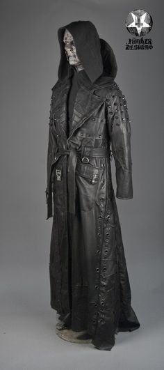 Image of Junker Designs Men's Leather Fallout Trenchcoat