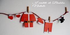 I vestiti di Babbo Natale pronti da stampare e appendere!