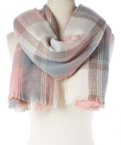 1fef0e8c344 Loving this David  amp  Young Dusty Pink Plaid Blanket Scarf on  zulily!