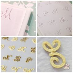 monogram royal icing transfer how to  sweetopia