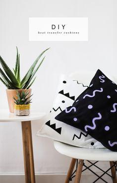 DIY heat transfer cushion idea