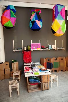 """Andy Beach's """"Everyday Life Objects"""" pop up shop (shot by Todd Selby)"""
