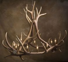 Antler Chandelier,for the fancy dinners at the deer camp :/