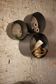 Kalalou Wall Cylinder Cubbieswall Cylinder Cubbies - Set Of 3