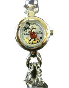 Disney Mickey Mouse Watch - Lady Size Mickey Watch Bracelet Link (Silver) by Disney. $30.00