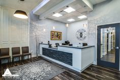 Classic Contemporary Waiting Room. Dental Office Design by Arminco Inc.