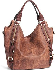 90a387f64898 Amazon.com  JOYSON Women Handbags Hobo Shoulder Bags Tote PU Leather  Handbags Fashion Large