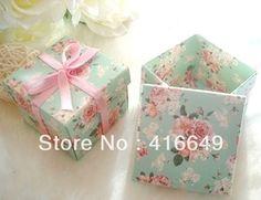 Online Shop Grátis frete 100 pcs fita rosa flor verde papel DIY Party Favor de casamento caixa de doces doces caixa de presente caixas de embalagem|Aliexpress Mobile