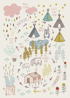 &SUUS: Kids: Kidsroom styling & prints | ensuus.blogspot.nl | Adventure Forest by Tiffany Jayne