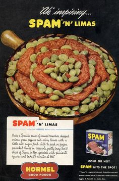 The green limas really make the Spam stand out. The only nice thing one can say about it.