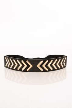 ShopSosie Style : Pointed Chevron Stretch Belt