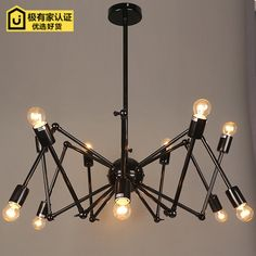 185.00$  Watch now - http://alix3o.worldwells.pw/go.php?t=32622602298 - 12 HEAD Pendant lamp Nordic modern minimalist fashion creative iron spider dining room study bedroom studio Pendant Lights 185.00$