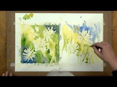 Daisy Backgrounds (Part1) - Watercolour Lesson by Sian Dudley