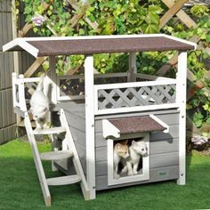catsfit cat house,Ideal cat condo,Weatherproof Cat Shelter ** Quickly view this special cat product, click the image : Cat Tree and Tower Outdoor Cat Shelter, Outdoor Cats, Cat House Outdoor, Pet Shelter, Indoor Outdoor, Outside Cat House, Outdoor Play, Animal Shelter, Wooden Cat House