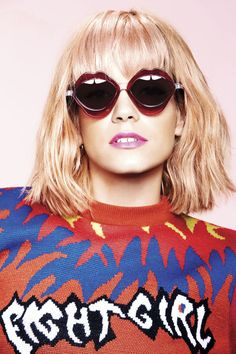 Here's Lily Allen looking delightful in House of Holland sunglasses