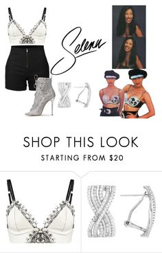 """""""selena quintanilla inspired 12"""" by angellx370 ❤ liked on Polyvore featuring Loveday London, LE3NO, selenaquintanilla and selenas"""