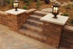 Image result for retaining wall design with steps