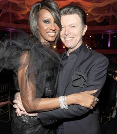 Bowie with Iman! Gorgeous!