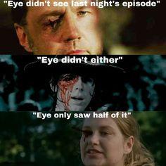 Eye didn't see last night's Walking Dead