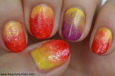 sunset themed manicure via @beautybymissl