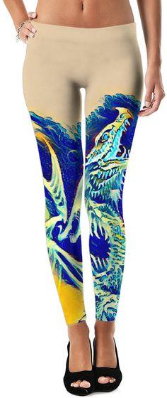 Water Dragon Samurai Style Custom GoT Fantasy Style Street Leggings by Willy Badu.