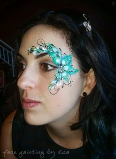Eye Face Painting, Face Paintings, Body Painting, Eye Art, Face And Body, Painting Inspiration, Festivals, Body Art, Glitter