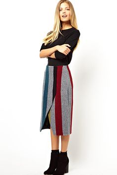 10 Fall Skirts That'll Convert You To A Midi-Lover (Thanks ASOS) #refinery29