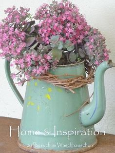 Decorating with Vintage Enamelware by Adirondack Girl @ Heart
