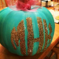 Nothing says Halloween like a monogrammed pumpkin Fall Crafts, Holiday Crafts, Holiday Fun, Diy Crafts, Holiday Ideas, Holidays Halloween, Happy Halloween, Halloween Ideas, Halloween 2017