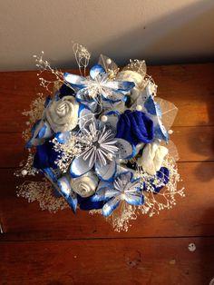 Bouquet continued. #wedding bouquet #diy #alternative bouquet  paper flowers #fabric flowers